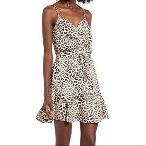 NWT! Nordstrom Row A Leopard Mini Dress